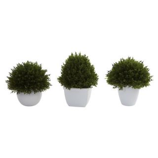 Nearly Natural Nearly Natural 3 Piece Mixed Cedar Plant Set