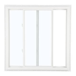 ReliaBilt 105 Series Left Operable Vinyl Double Pane Single Strength New Construction Sliding Window (Rough Opening: 24 in x 24 in; Actual: 23.5 in x 23.5 in)