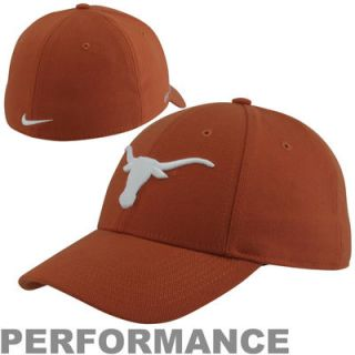 Nike Texas Longhorns Dri FIT Swoosh Flex Hat   Burnt Orange