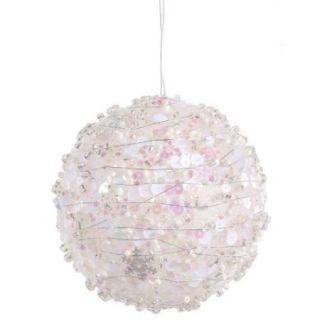 "White Sparkle Kissing Christmas Ball Ornament 4"" (100mm)"