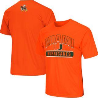 Miami Hurricanes Colosseum Big & Tall Rushing T Shirt   Orange