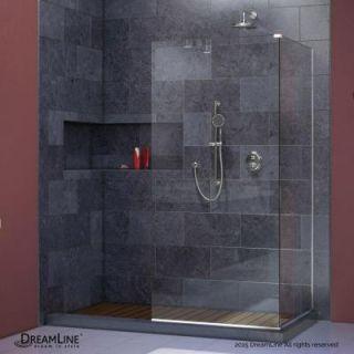 DreamLine Linea 34 in. x 72 in. and 30 in. x 72 in. Semi Framed Shower Door in Brushed Nickel SHDR 3230343 04