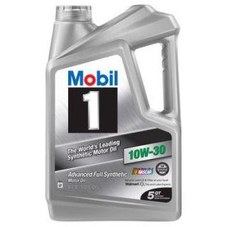 Mobil 1 10W 30 Full Synthetic Motor Oil, 5 qt.