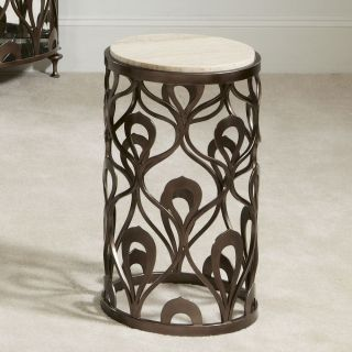 American Drew 308 918 Bob Mackie Home Round End Table