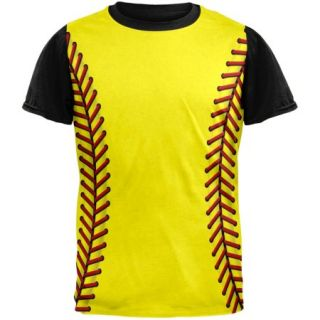 Softball Costume Adult Black Back T Shirt