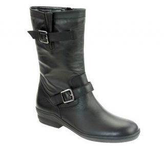 David Tate Dorothy Mid Calf Leather Boots —