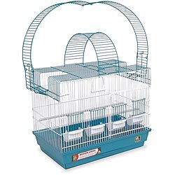 Prevue Pet Products Blue/ White Double Playpen Cockatiel Cage