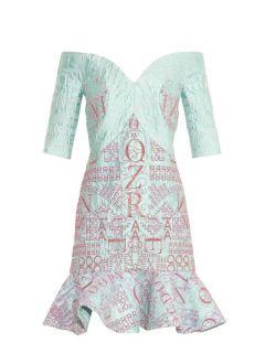 De Bau jacquard and glitter dress  Mary Katrantzou US