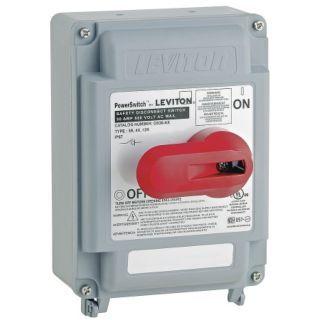 LEVITON Manual Motor Switch, 30 Amps AC, Lever Operator   5DLU9 DS30 AX   Grainger
