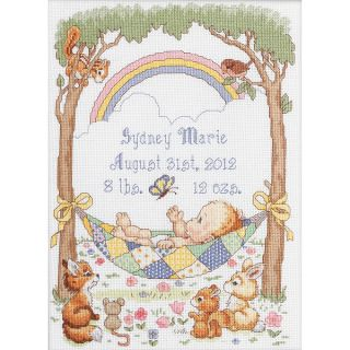 Our Little Blessing Birth Record Counted Cross Stitch Kit 10X13 1/2