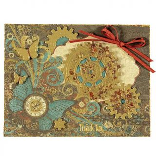 Paper Wishes Steampunk Papercrafting Kit with Stamps   8120471