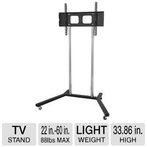 TygerClaw LCD8007BLK is ideal mobile tv floor stand for high street shops, hotel lounges, exhibition hall, etc.