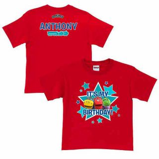 Personalized Chuggington Its My Birthday! Toddler Boy Red T Shirt