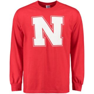 Nebraska Cornhuskers Core Logo Too Long Sleeve T Shirt   Scarlet