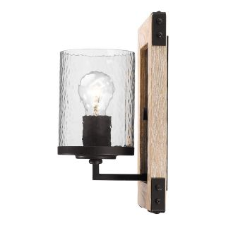 Golden Lighting 7804 1W RB CWG Eastwood 1 Light Wall Sconce in Rustic Bronze