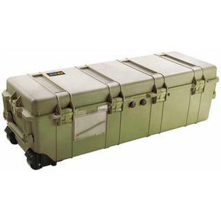 Pelican 1740 Transport Long Case with Foam, 9.57 Bottom Depth, Olive Drab Green 1740 000 130