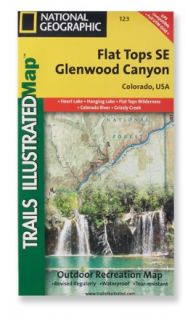 Trails Illustrated Flat Tops SE/Glenwood Canyon Trail Map