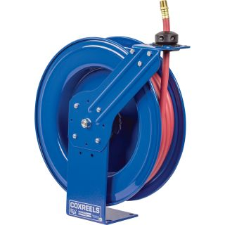 Coxreels SH Series Super Hub Air/Water Hose Reel — With 3/4in. x 50ft. PVC Hose, Max. 300 PSI, Model# SH-N-550  3/4in.   1in. Hose Reels