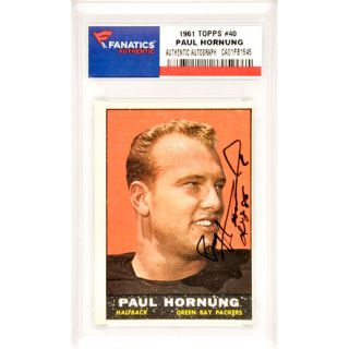Fanatics Authentic Paul Hornung Green Bay Packers Autographed 1961 Topps #40 Card with HOF 86 Inscription