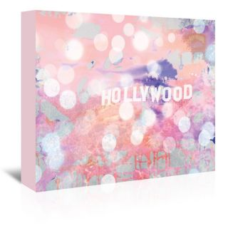 Americanflat Urban Road Hollywood Sign Graphic Art on Gallery Wrapped