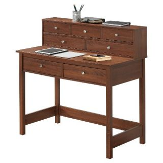Techni Mobili Elegant Desk with Storage   Oak