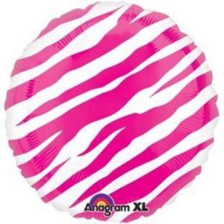 Hot Pink Zebra Print Balloon (each)   Party Supplies