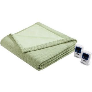 Beautyrest Heated Ribbed Microfleece Blanket
