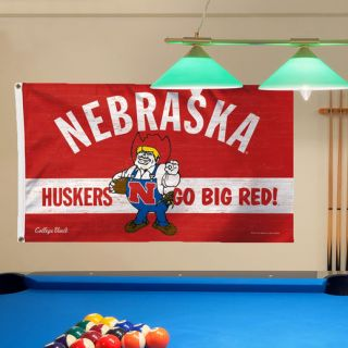 WinCraft Nebraska Cornhuskers College Vault Logo Deluxe Single Sided 3 x 5 Flag