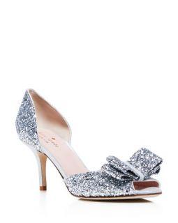 kate spade new york Sela Glitter d'Orsay Peep Toe Pumps