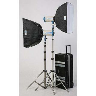 JTL DL 1600 Versalight E 800 Soft Box Kit, with Two E 800 Monolights, Two 24x24 Softboxes, Stands & Case. 921600