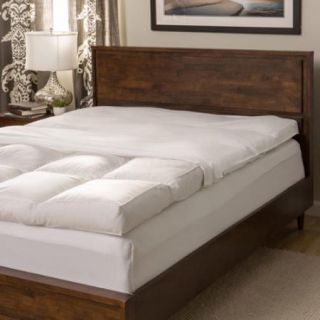 Super Snooze 5 inch 230 Thread Count Baffled Featherbed Set Full