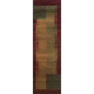 Safavieh Porcello Waves Red/ Multi Rug (24 x 67)