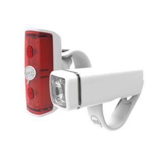 Knog Pop Duo Bicycle Head Light/Tail Light Set (White)