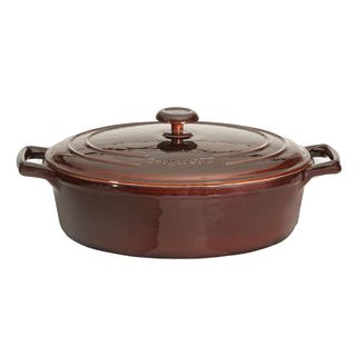 Cuisinart Red Perpchefs 4.5 quart Classic Enameled Cast Iron Chicken
