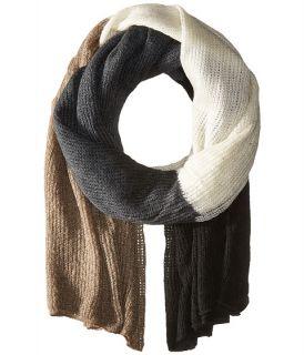 Steve Madden Color Block Blanket Wrap Neutral