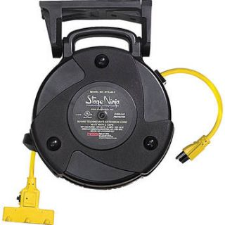 Stage Ninja 14/3 AWG Retractable Power Reel with 3 Tap STX 50 3