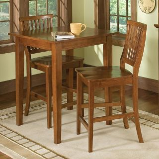 Home Styles Arts and Crafts Bistro / Pub Table with 2 Bistro Stools   DNU