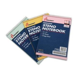 Skilcraft Gregg Style Rainbow Steno Notebook   60 Sheet   Gregg Ruled   3 / Pack (NSN4545702)
