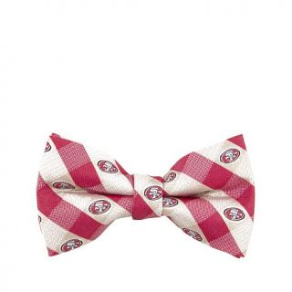 Officially Licensed NFL Team Logo and Color Checkered 100% Polyester Bow Tie7665025