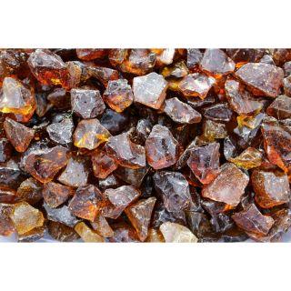 Exotic Glass 10 lb Amber Fire Glass (Medium)