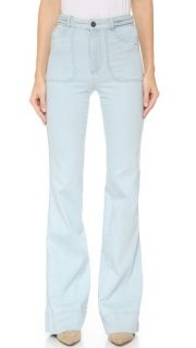 alice + olivia Juno Wide Leg Jeans with Braided Waist