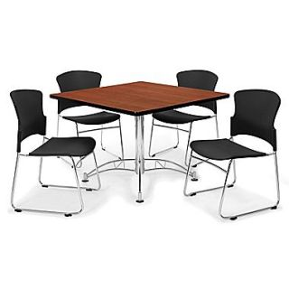OFM™ 42 Square Multi Purpose Cherry Tables With 4 Chairs