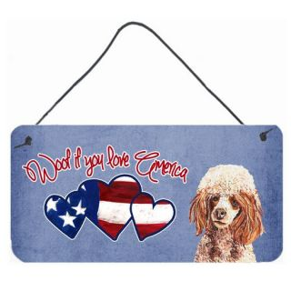 Carolines Treasures Woof if you love America Apricot Poodle by Sylvia