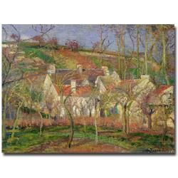 Camille Pissarro The Red Roofs or Corner of a Village Winter 1877
