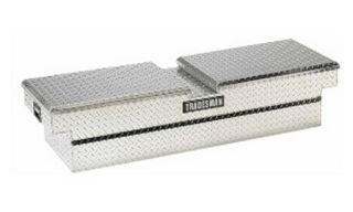 Tradesman Aluminum Dual Lid Cross Bed Truck Tool Box for Heavy Duty Trucks   Truck Tool Boxes
