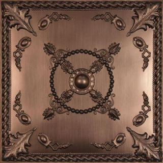 Ceilume Alexander Faux Bronze 2 ft. x 2 ft. Lay in or Glue up Ceiling Panel (Case of 6) V3 ALEX 22BBR