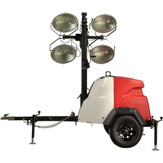 Generac Magnum MLT6SM Mobile Light Tower — 6000 Watts, Mitsubishi Engine, Electric Winch, Model# 6969  Mobile Light Towers