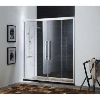 Paragon Bath Clarity 72 x 57   59 Sliding Chrome Shower Door