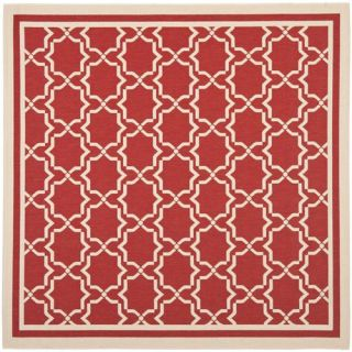 Safavieh CY6916 248 Courtyard Polypropylene Machine Made Red Bone Area Rug