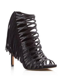 Dolce Vita Harrow Fringe Caged High Heel Sandals